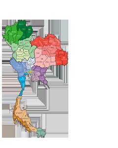 รูปภาพแผนที่ประเทศไทย